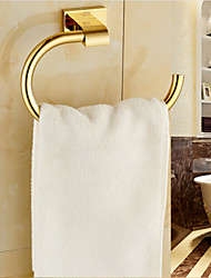 cheap -Gold Bathroom Accessories Brass Material Towel Rings