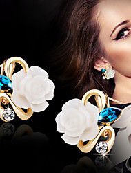 cheap -Women's Stud Earrings - Flower Yellow / Pink / Light Blue For Wedding Party Daily
