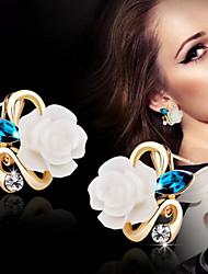Недорогие -Женский Серьги-гвоздики бижутерия Сплав В форме цветка Бижутерия Назначение Свадьба Для вечеринок Повседневные