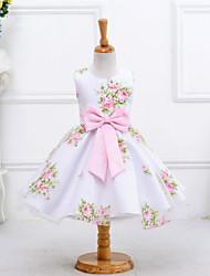 Недорогие -принцесса колено длина цветок девушка платье - полист без рукавов жемчужина шеи bflower