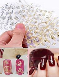 abordables -12pcs Calcomanías de Uñas 3D Joyas de Uñas arte de uñas Manicura pedicura Encantador Punk / Joyería de uñas / Pegatinas de uñas 3D / Metal