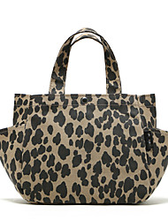 Women Bags Fall PVC Shoulder Bag with for Shopping Casual Leopard