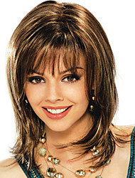 cheap -Synthetic Wig Straight Brown Women's Capless Medium Synthetic Hair