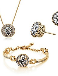 cheap -Women's Jewelry Set Bracelet / Earrings / Necklace - Party / Work / Casual Gold / Silver For Party / Birthday / Engagement