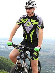 Недорогие -Nuckily С короткими рукавами Велокофты и велошорты - Зеленый Велоспорт Шорты / Джерси / Наборы одежды, Водонепроницаемость, Анатомический дизайн, Ультрафиолетовая устойчивость Полиэстер / Дышащий