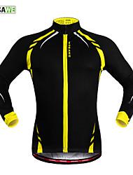 WOSAWE Veste de Cyclisme Unisexe Vélo Veste Maillot Hauts/Tops Garder au chaud Pare-vent Doublure Polaire Bandes Réfléchissantes