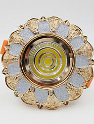 5W 500lm cob resina europeu levou luz de teto downlight lâmpada spotlight + alumínio