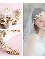 cheap -Tulle Lace Alloy Headbands Flowers Wreaths Head Chain Headpiece