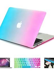 abordables -MacBook Funda Gradiente de Color ABS para MacBook Pro 15 Pulgadas con Pantalla Retina / MacBook Pro 13 Pulgadas con Pantalla Retina