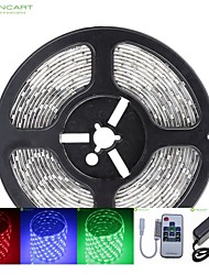 cheap -SENCART RGB Strip Lights 300 LEDs RGB Remote Control / RC Cuttable Dimmable Waterproof Color-Changing Self-adhesive Suitable for Vehicles