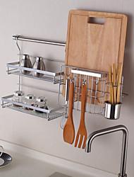 Cucina Metallo Scaffali e porta-oggetti