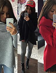 DONNE - Top e blouse - Sexy / Informale Halter / Twist / Lupetto - Maniche lunghe Cotone / Viscosa