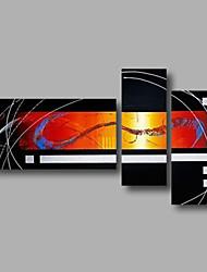 Недорогие -Ручная роспись Абстракция Любые формы, Modern холст Hang-роспись маслом Украшение дома 3 панели