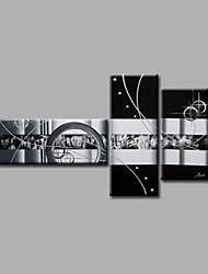 cheap -Hand-Painted Abstract Any Shape, Modern Canvas Oil Painting Home Decoration Three Panels