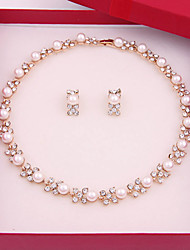 cheap -Women's Jewelry Set Vintage Cute Party Casual Link/Chain Fashion Simple Style Party Special Occasion Anniversary Birthday Gift Pearl Alloy