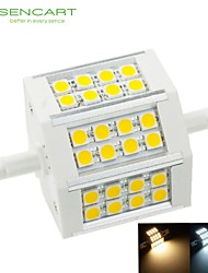 cheap -SENCART 650-800lm R7S LED Floodlight Recessed Retrofit 24 LED Beads SMD 5060 Dimmable Warm White / Cold White 85-265V / 1 pc