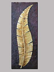 cheap -Large Hand-Painted Abstract Landscape Gold Leaf Modern Oil Painting On Canvas Ready to Hang