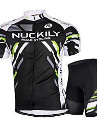 Nuckily Cycling Jersey with Shorts Men's Short Sleeves Bike Jersey Shorts Padded Shorts/Chamois Clothing Suits Tops Anatomic Design