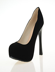cheap -Women's Shoes Leatherette Stiletto Heel Heels Heels Wedding / Office & Career / Dress / Casual Black