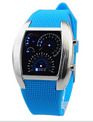 Kids' Wrist watch LED Digital Rubber Band Black White Blue Red Green