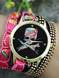 Жен. Модные часы Часы-браслет Кварцевый Материал Группа Черный Белый Синий Оранжевый Фиолетовый Роуз