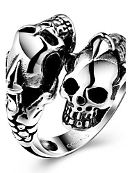 Ring Fashion Party Jewelry Steel Women Statement Rings 1pc,One Size Black Christmas Gifts