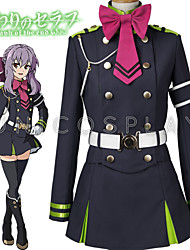 cheap -Inspired by Seraph of the End Hiiragi Tsukasa Anime Cosplay Costumes Cosplay Suits Top Skirt Belt Bow More Accessories For Men's Women's