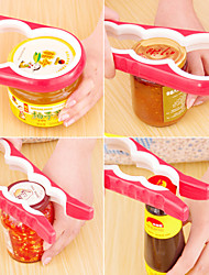cheap -4 in 1Multi-function Combination Can Opener Open Cans household Implement Anti-skid Screw Cap Tin Opener Random Color