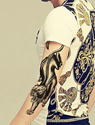 Leopard Waterproof Flower Arm Temporary Tattoos Stickers Non Toxic Glitter