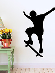 Fashion / folk / sport Wall Stickers Fly vægklistermærker , Vinyl stickers 58*90cm