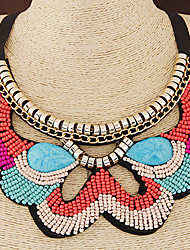 cheap -European Style Trend Wild Bohemian Ethnic Beaded Collar Fashion Necklace