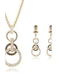 abordables -Mujer Cristal Conjunto de joyas - Diamante Sintético Lujo Incluir Dorado Para Boda / Fiesta / Diario