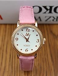 저렴한 -여성용 패션 시계 디지털 뜨거운 판매 가죽 밴드 아날로그 참 블랙 / 화이트 / 레드 - 브라운 레드 핑크