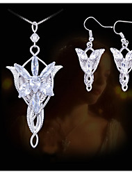 cheap -Women's Jewelry Set Earrings / Necklace - Silver Jewelry Set For Party / Daily / Casual