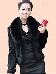 cheap -Long Sleeves Faux Fur Wedding Fur Coats Wedding  Wraps With Feathers / Fur Shrugs