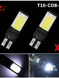 cheap -2X best Ultra Bright T10 W5W 194 168 6W LED COB Side Lamp Wedge Light Bulb White 12V