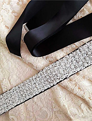 cheap -Satin Wedding Party/ Evening Dailywear Sash With Beading Pearls