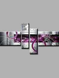 Недорогие -Ручная роспись Абстракция Любая форма,Modern 4 панели Hang-роспись маслом For Украшение дома