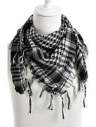New Arab Shemagh Tactical Palestine Light Polyester Scarf Shawl For Men Fashion Plaid Printed Men Scarf Wraps WEIS4