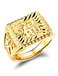 cheap -Men's Gold Plated Band Ring - Fashion Golden Ring For Wedding / Party / Daily