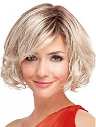 Fashion Lady Short Blonde Color Curly Beautiful Wig