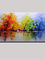cheap -Hand-Painted Color Tree Abstract Landscape Modern Oil Painting On Canvas One Panel Ready To Hang
