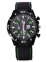 Men's Casual Black Silicone Band Black Case Sports Watch