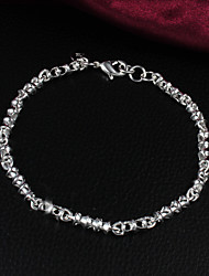 Fashion Simple 925 Silver Sterling Party Chain & Link Bracelets For Woman&Lady