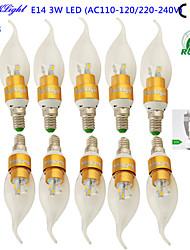 3W E14 LED Candle Lights CA35 6 SMD 5730 200-250 lm Warm White 3000 K Decorative AC 220-240 AC 110-130 V