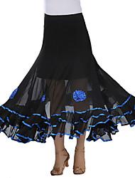 Klasični plesovi Suknjice Žene Seksi blagdanski kostimi Krep Drapirano Suknja