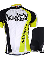 Nuckily Cycling Jersey with Shorts Unisex Short Sleeves Bike Jersey Shorts Clothing Suits Tops Waterproof Ultraviolet Resistant Moisture