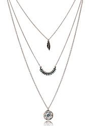 Žene Perje Boemski stil Moda folk stil Europska Lančići Vintage ogrlice Umjetno drago kamenje Glina Legura Lančići Vintage ogrlice ,