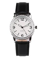 cheap -Women's Fashion Watch Water Resistant / Water Proof Imitation Diamond Quartz PU Band Sparkle Charm Black