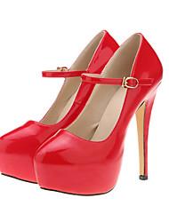Women's Shoes Leatherette Stiletto Heel Heels / Platform Heels Wedding / Party & Evening / DressBlack / Blue /